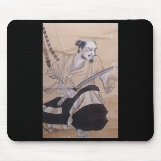Old Japanese Samurai Painting Mouse Pads