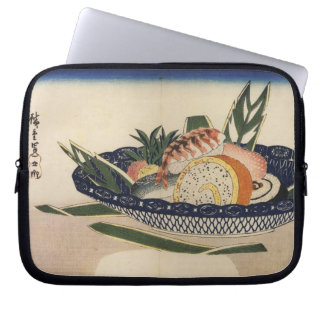 Old Japanese Sushi Painting Computer Sleeves