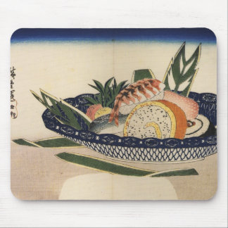 Old Japanese Sushi Painting Mouse Pad