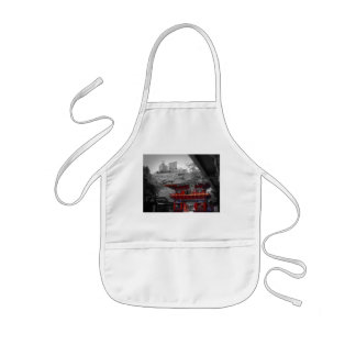 Old Japanese Temple Kids' Apron