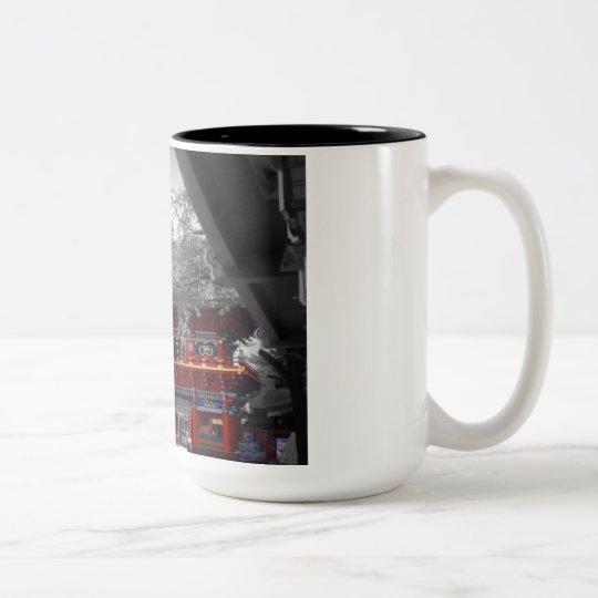 Old Japanese Temple Two-Tone Coffee Mug