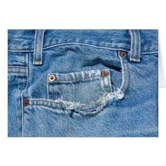 Old Jeans Greeting Card