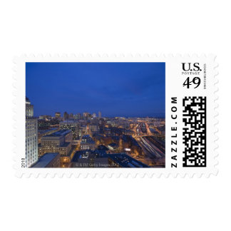 Old John Hancock Building, Boston and Postage Stamp