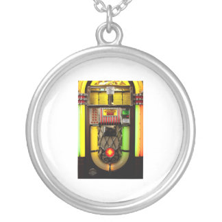 Old Jukebox Silver Plated Necklace