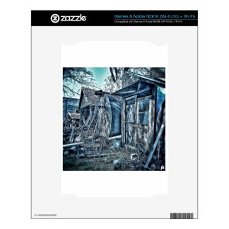 Old junkyard sheds, rustic B&W Decals For The NOOK