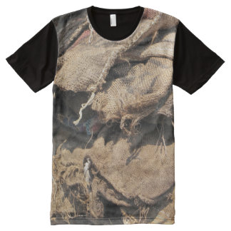 Old Jute Sacking All-Over-Print T-Shirt