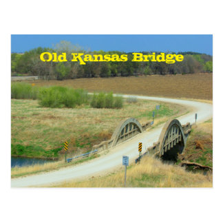 Old Kansas Bridge Post Card