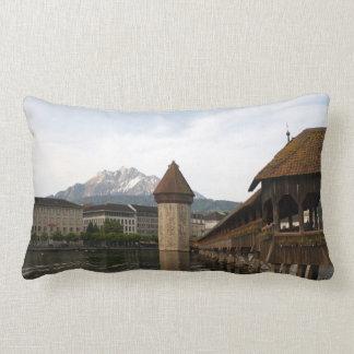 Old Kappelbrücke Lucerne cushion