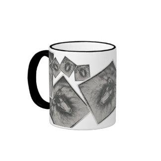 Old Keeshond Pic Ringer Mug