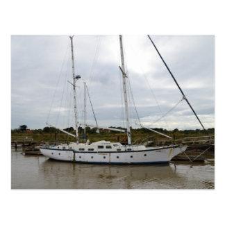 Old Ketch On The River Blythe Postcard