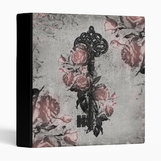Old Key and Roses Binder