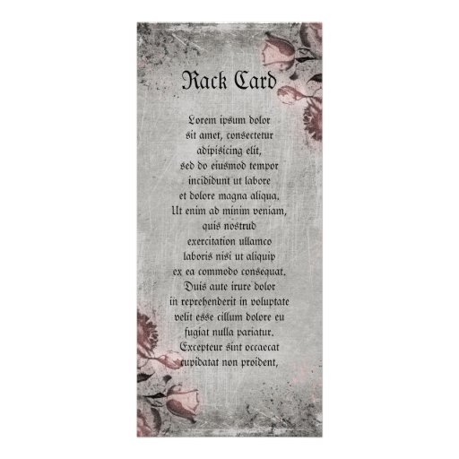 Old Key and Roses Customized Rack Card