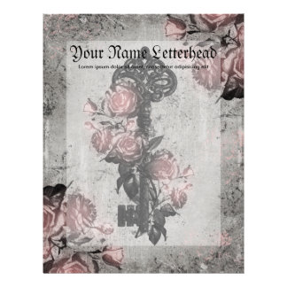 Old Key and Roses Letterhead