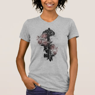 Old Key and Roses T-Shirt