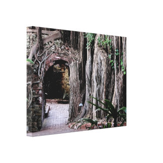 Old Key West Garden Gallery Wrap Canvas