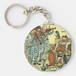Old King Cole by Walter Crane 1845 ~ 1915 Basic Round Button Keychain