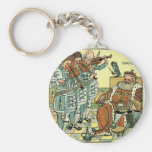 Old King Cole by Walter Crane 1845 ~ 1915 Key Chains