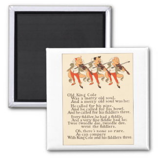 Old King Cole Fiddlers 2 Inch Square Magnet