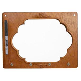 Old Kitchen Cabinet Frame Dry Erase Board With Keychain Holder