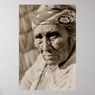 Old Klamath woman Native American Woman Poster