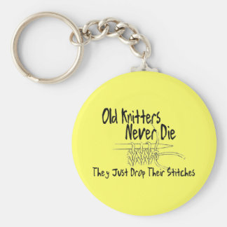 Old Knitters Keychain