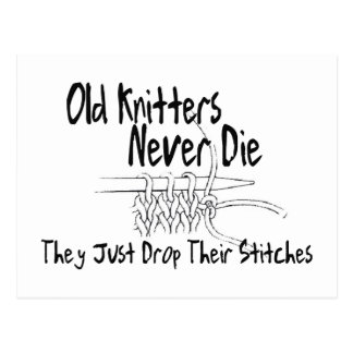 Old Knitters Postcard