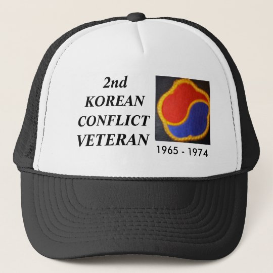 old korea dmz 1 2nd korean conflict veteran trucker hat