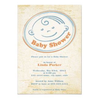Old Label - Baby Shower Invitation