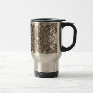 Old Lace Fractal 18 Travel Mug