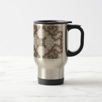 Old Lace Fractal 1 Travel Mug