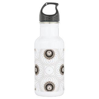 Old Lace Fractal 8 18oz Water Bottle