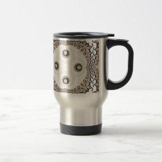 Old Lace Fractal 8 Travel Mug