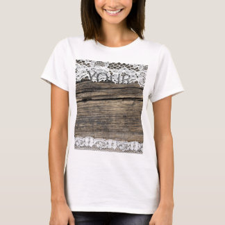old lace on the wooden background T-Shirt