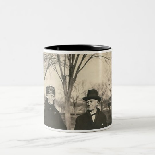 old lady and old man Two-Tone coffee mug