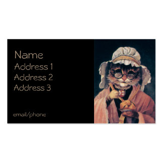 Old Lady Cat Pack Of Standard Business Cards