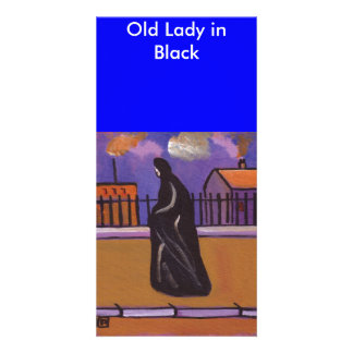 OLD LADY IN BLACK CARD