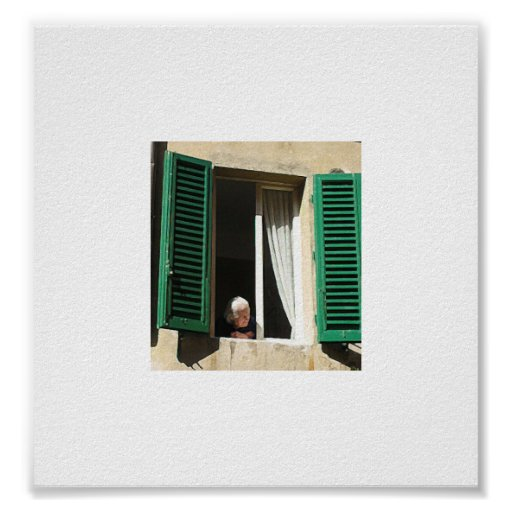 old lady in siena (paint daubs effect) poster