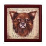 Old Lady Kometka dog animal portrait painting Jewelry Box