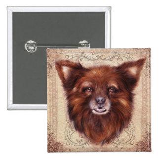Old Lady Kometka dog animal portrait painting Pin