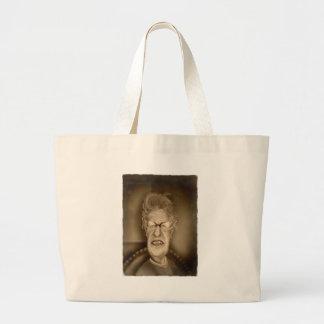 Old Lady OAP Vintage Caricature Retro Large Tote Bag