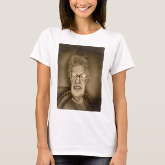 Old Lady OAP Vintage Caricature Retro T-Shirt