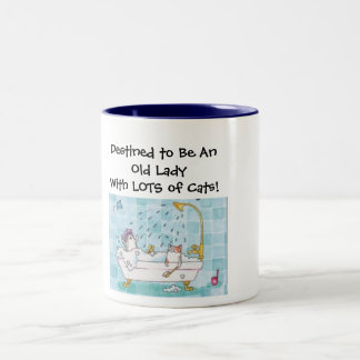 Old Lady With Cats Mug