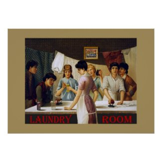 Old Laundry Room Sign print