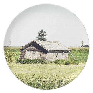Old Leaning Shack Plate