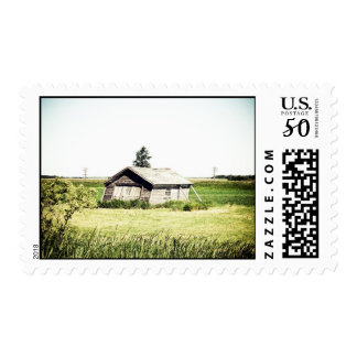 Old Leaning Shack Postage