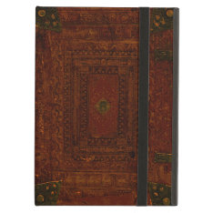 Old Leather And Brass Book Cover Ipad Air Case at Zazzle