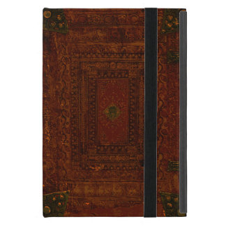 Old Leather And Brass Book Cover iPad Mini Covers