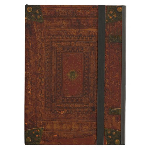 Old Leather And Brass Book Cover iPad Air Cases