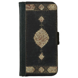Old Leather And Fine Detail Gold Book Cover iPhone 6 Wallet Case