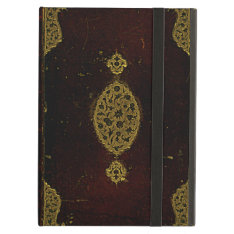 Old Leather And Gold Brown Original Book Cover Ipad Air Case at Zazzle